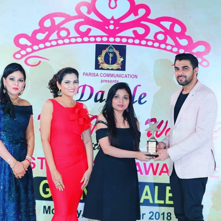 Award receives by Alkaa Makeup Studio Vivek Vihar East Delhi